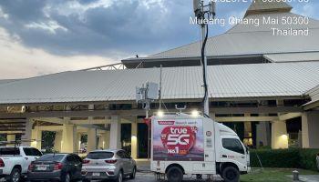 กลุ่มทรู ติดตั้งรถโมบายล์ COW เครือข่ายอัจฉริยะ True5G รวมทั้ง 4G และ WiFi ภายในโรงพยาบาลสนาม