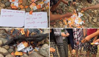 เผาซิมได้อีก!! พม่าปิด 4G ประชาชนรวมหัวเผาซิม Mytel 4G ด้าน Telenor Myanmar หนุนข้อเรียกร้องสถานฑูตกลุ่มประเทศนอร์ดิก