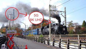 ญี่ปุ่นโชว์เทคนิค-พร้อมผัง ตั้งสถานี 5G กลางแจ้ง..ส่งภาพ 8K UHD ไปยังรถไฟด้วยเน็ตฯ ระดับ 8 Gbps