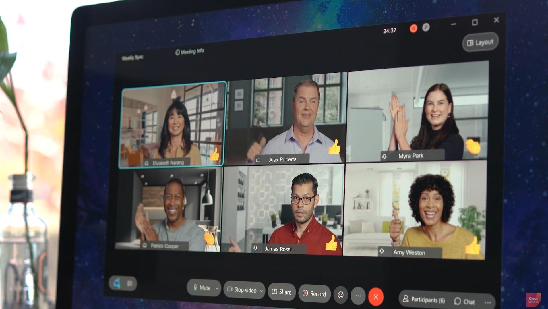 cisco เปิดตัว  Webex รูปแบบใหม่ พัฒนาระบบ AI เร็วกว่าเดิม 10 เท่า เชื่อมต่อ Box Dropbox Miro Mural Salesforce จาก Facebook โดยตรง