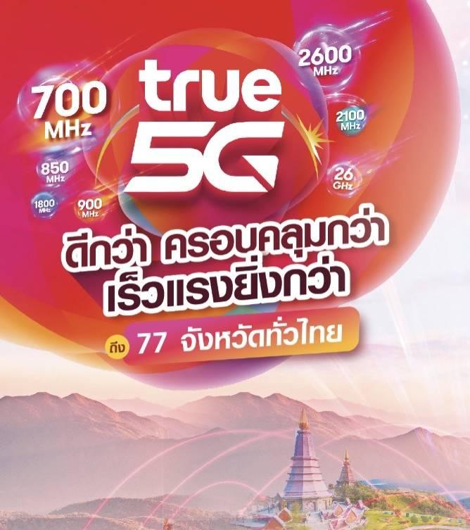 ทรู จัดเต็มทีมงานลงพื้นที่ การันตีเครือข่าย ทรู 5G ให้คนไทยได้ใช้งานจริง  5G ที่ดีที่สุด ครอบคลุมแหล่งท่องเที่ยวสำคัญทั้ง 6 ภูมิภาค  77 จังหวัด ทั่วไทย