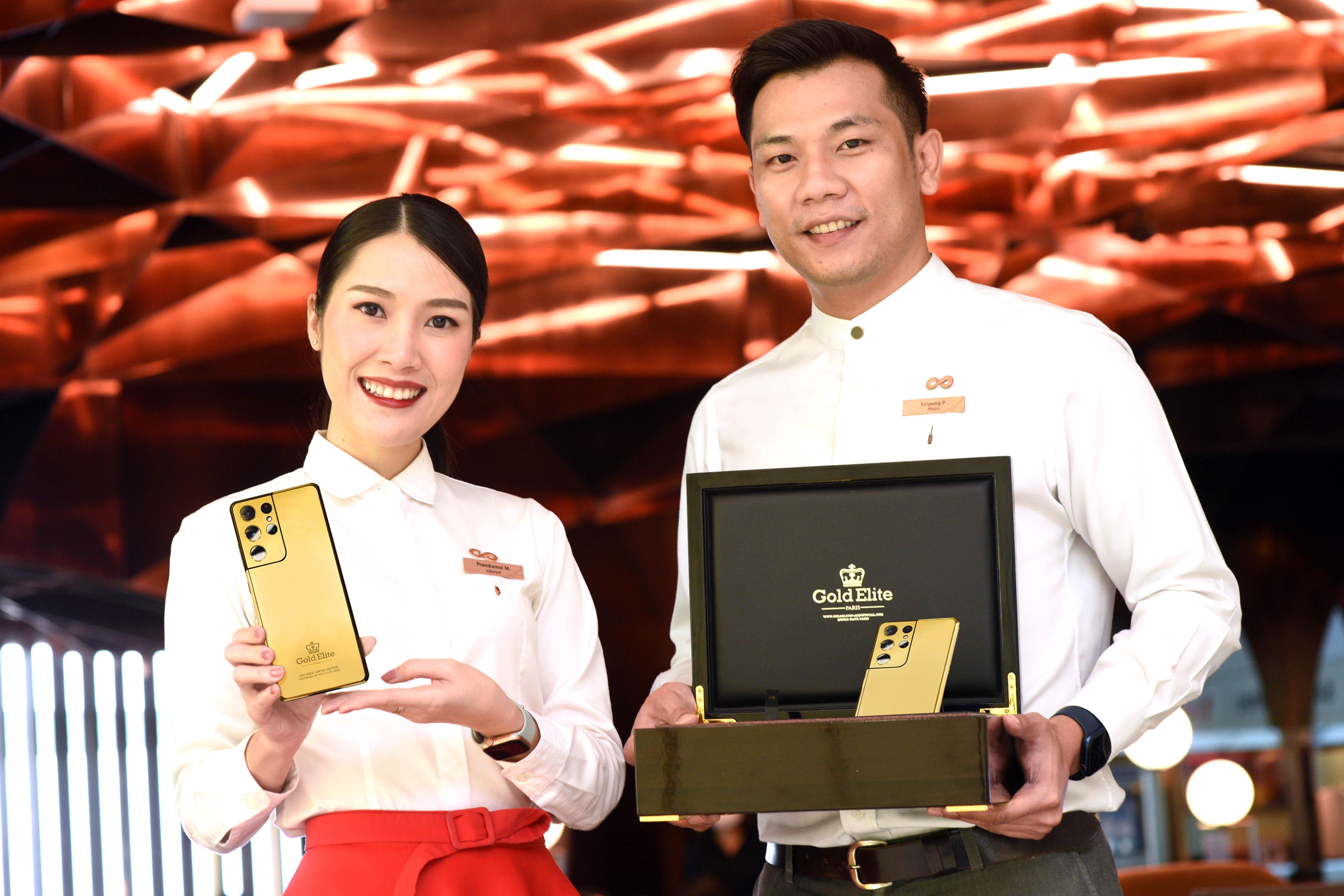 รุ่นพิเศษ Gold Elite Galaxy S21 Ultra 5G 24KT Gold จากทองคำแท้ 99.9% จาก Samsung ฉลองตรุษจีน