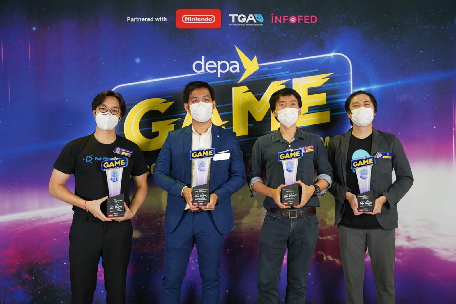 DEPA ผนึก TGA - อินโฟเฟด ประกาศผลสุดยอด 4 ทีมพัฒนาเกมสัญชาติไทย ในโครงการ depa Game Accelerator Program พร้อมปั้นสู่ระดับโลก