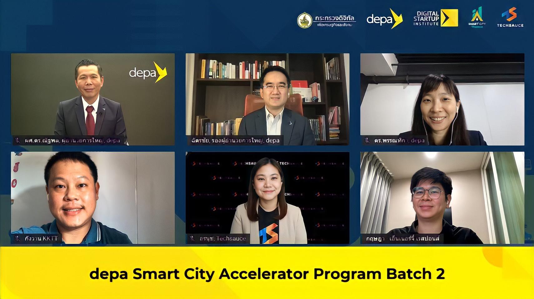 DEPA จับมือ Techsauce เปิดตัวโครงการ depa Smart City Accelerator Program Batch 2