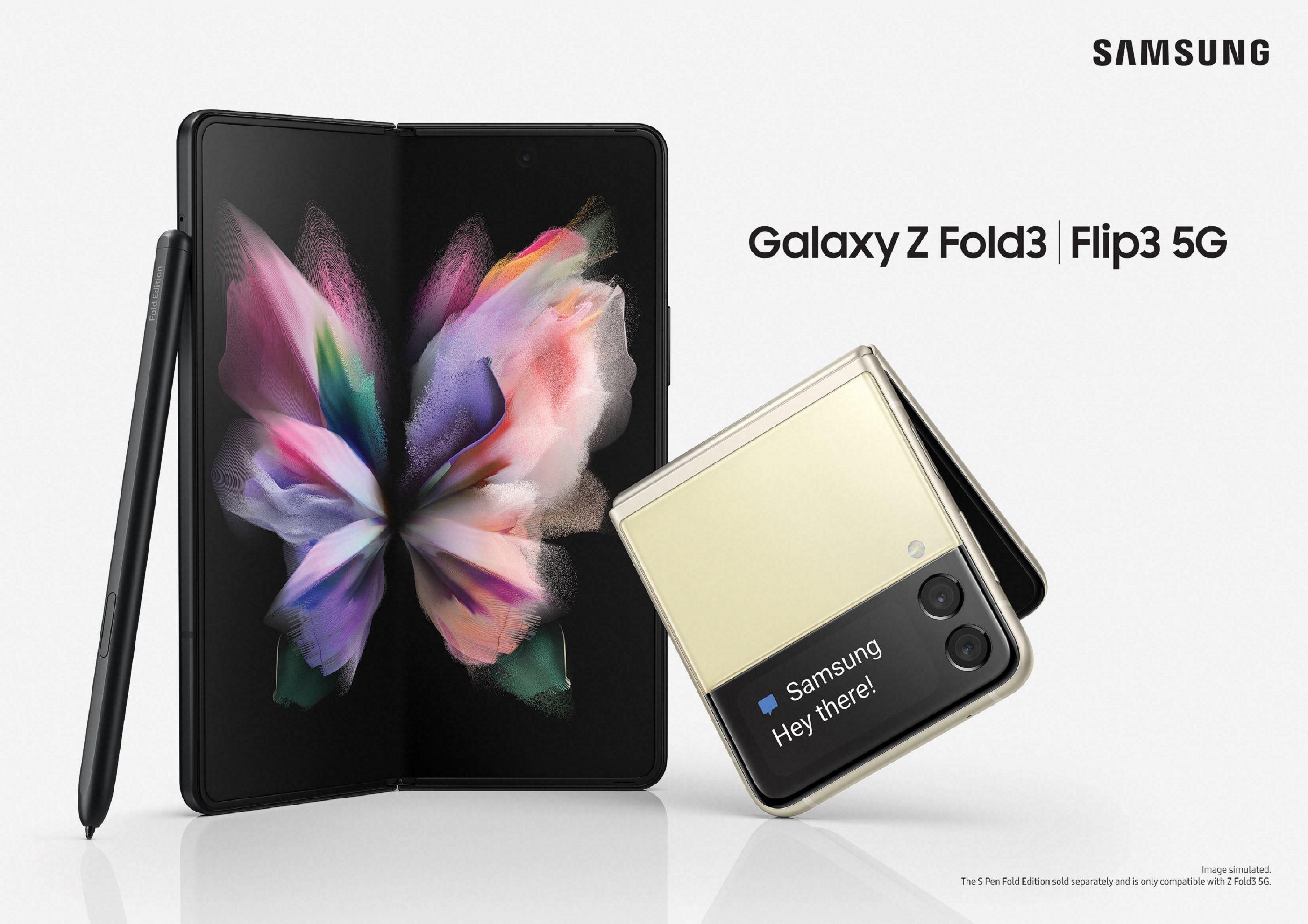 Samsung เปิดตัว Galaxy Z Fold3 5G | Flip3 สมาร์ทโฟนหน้าจอพับได้เจเนอเรชันที่ 3