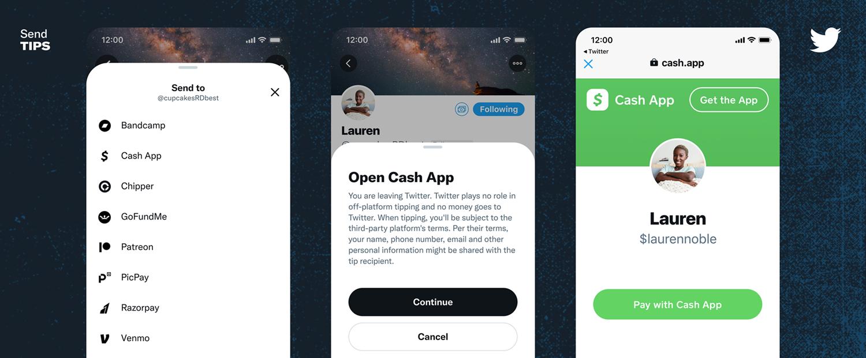 Twitter เปิดตัวฟีเจอร์การให้ทิป กับผู้ใช้ทวิตเตอร์กลุ่มเล็กๆ ในสหรัฐอเมริกา เพิ่มปุ่มด้านบนโปรไฟล์ให้สนับสนุนการจ่ายทิปได้